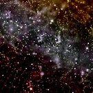 Golden Galaxy Beautiful starfield Design by Melissa Park