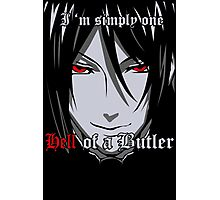 Black Butler Funny TShirt Epic T-shirt Humor Tees Cool Tee Photographic Print