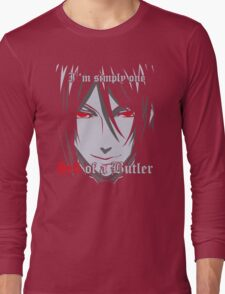 Black Butler Funny TShirt Epic T-shirt Humor Tees Cool Tee Long Sleeve T-Shirt