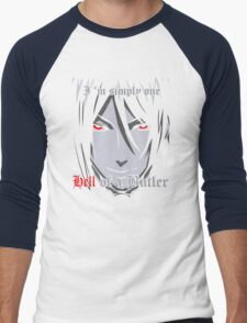 Black Butler Funny TShirt Epic T-shirt Humor Tees Cool Tee Men's Baseball ¾ T-Shirt