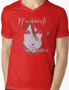 Black Butler Funny TShirt Epic T-shirt Humor Tees Cool Tee Mens V-Neck T-Shirt