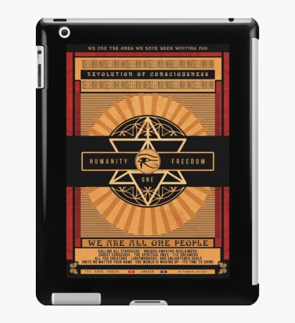 All One People | Unity Consciousness Propaganda Poster iPad Case/Skin