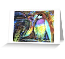 Two Parrots Greeting Card