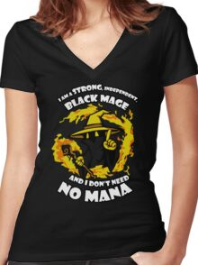 Black Mage Funny TShirt Epic T-shirt Humor Tees Cool Tee Women's Fitted V-Neck T-Shirt