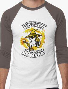 Black Mage Funny TShirt Epic T-shirt Humor Tees Cool Tee Men's Baseball ¾ T-Shirt