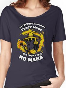 Black Mage Funny TShirt Epic T-shirt Humor Tees Cool Tee Women's Relaxed Fit T-Shirt