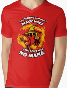 Black Mage Funny TShirt Epic T-shirt Humor Tees Cool Tee Mens V-Neck T-Shirt