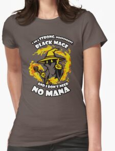 Black Mage Funny TShirt Epic T-shirt Humor Tees Cool Tee Womens Fitted T-Shirt