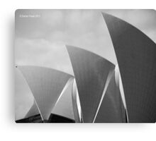 Sydney Opera House Shells Canvas Print