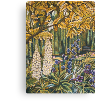 White Lupins in Monets Garden Canvas Print