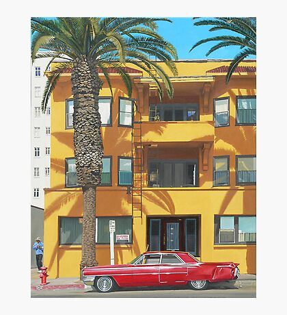 Red Caddy Apartments Photographic Print