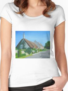 Corfe Cottage Women's Fitted Scoop T-Shirt