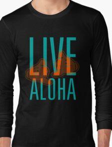 Live Aloha Shaka #hepuakiko Long Sleeve T-Shirt