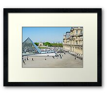 Louvre From Above Framed Print