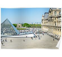 Louvre From Above Poster