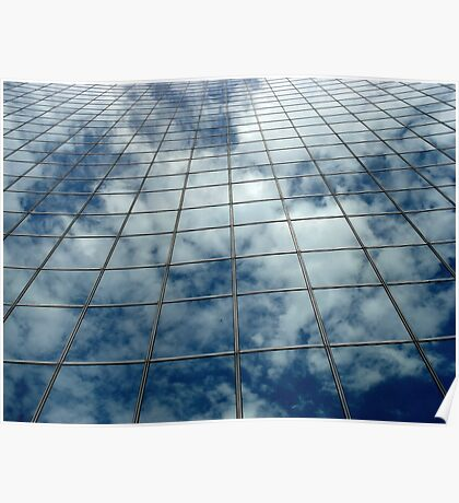 Mirrored Clouds Poster