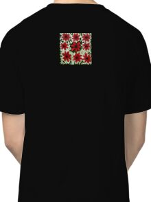 Red Flowers on White Classic T-Shirt