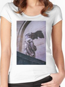 Winged Victory of Samothrace Women's Fitted Scoop T-Shirt