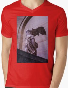 Winged Victory of Samothrace Mens V-Neck T-Shirt