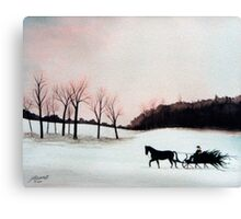 Winter Sleigh Ride Canvas Print