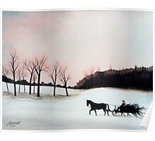 Winter Sleigh Ride Poster