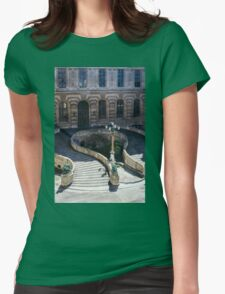 Louvre Staircase Womens Fitted T-Shirt