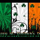 St. Patrick's Day Card With Irish Colours  by Moonlake