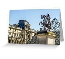 Louvre Horse Statue Greeting Card