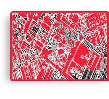 Kings Square Unique Map Canvas Print
