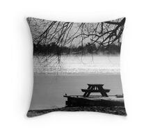 Winter Picnic Throw Pillow