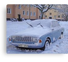 Ford Taunus in the snow Canvas Print