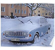 Ford Taunus in the snow Poster