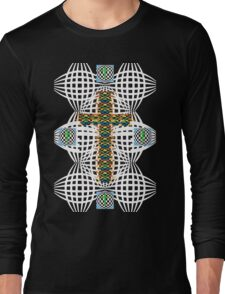 Abstract Cross Long Sleeve T-Shirt