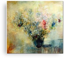 Bunch of flowers in a vase Canvas Print
