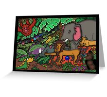 Jungle Fun Birthday Card For Children  Greeting Card