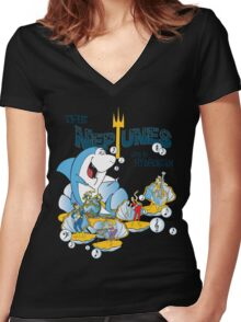 The Neptunes - Live in Hydrostan Women's Fitted V-Neck T-Shirt