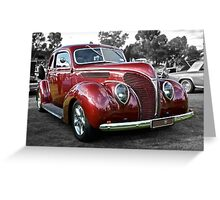 Red 1938 Ford Coupe Greeting Card