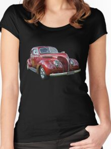 Red 1938 Ford Coupe Women's Fitted Scoop T-Shirt