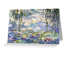 Monet's lilies at Giverny Greeting Card