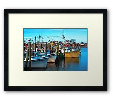 Dockside Lineup Framed Print