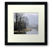 Trees on the Slough Framed Print