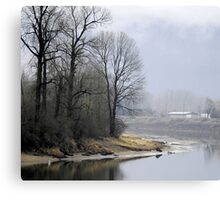 Trees on the Slough Canvas Print