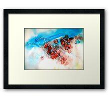 Cherries...Frozen Framed Print
