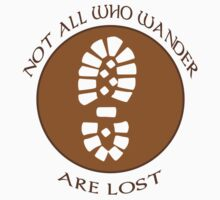 Not all who wander are lost geek funny nerd by idulzul