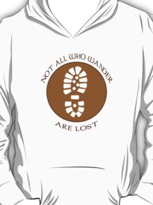Not all who wander are lost geek funny nerd T-Shirt