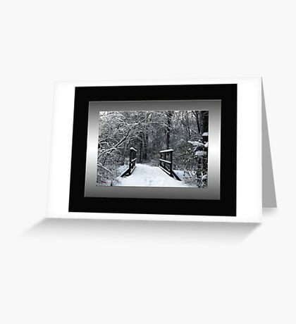Ice Bridge Greeting Card