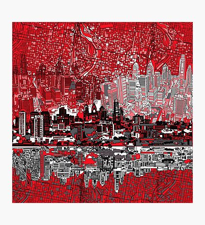 philadelphia skyline 3 Photographic Print