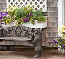 Mama, Papa, and Baby Bear Bench by phil decocco