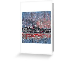 philadelphia skyline 4 Greeting Card
