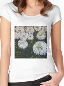 White agapanthus Women's Fitted Scoop T-Shirt